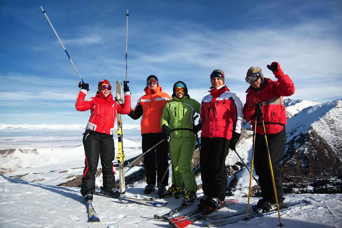 traditionele ski foto