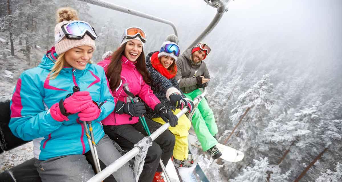 single wintersport skilift